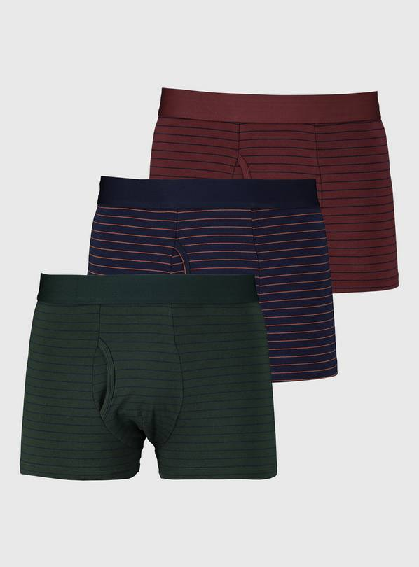 Fine Stripe Trunks 3 Pack - XL